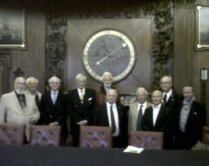 Members of the Swedish Royal Navy group RSK B:58 with Justin Reay (small chap, centre) in the Admiralty Board Room September 2013