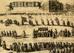 De Ruyter's funeral procession, Amsterdam, 1677